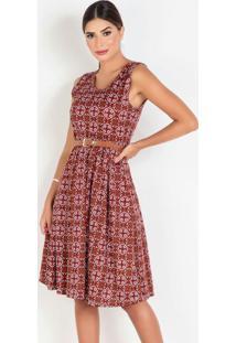 Vestido Com Pregas Arabescos Moda Evangélica