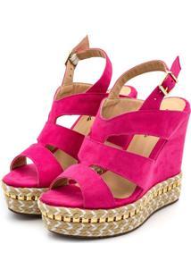 Sandã¡Lia Anabela Flor Da Pele Pink - Pink - Feminino - Dafiti