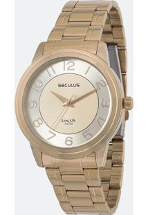 Relógio Feminino Seculus 20424Lpsvda Analógico 5Atm