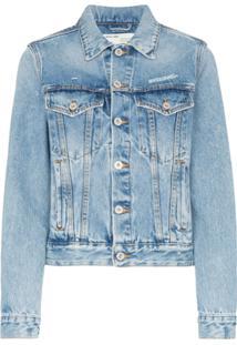 Off-White Jaqueta Jeans Clássica - Azul