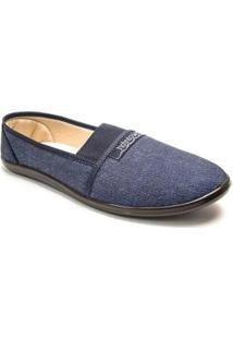 Sapatilha Moleca Comfort Elástico Clássica Feminina - Feminino-Jeans