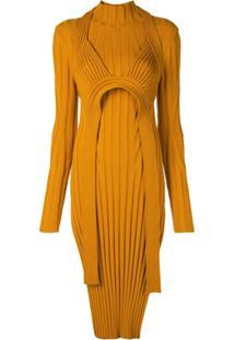 Proenza Schouler Blusa Com Sobreposição Assimétrica De Tricô - Laranja