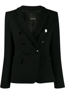 Pinko Double Breasted Blazer - Preto