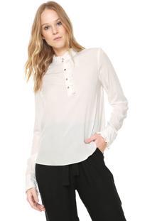 Camisa Lez A Lez Reta Franzido Branca