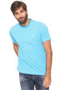 Camiseta Aleatory Padronagem Azul