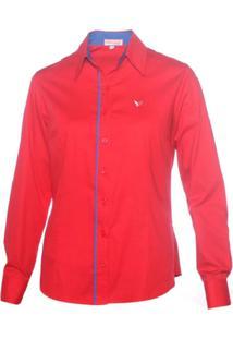 Camisa Pimenta Rosada Ellie - Feminino-Vermelho+Azul
