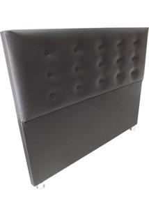 Cabeceira Cama Box Durasi 15 Corino Preto King 195 X 120 Rbl