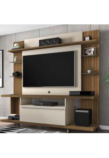 Estante Para Tv Até 55 Polegadas 1 Porta New Torino Cinamomo/Off White/Ripado - Bechara Móveis