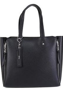 Bolsa Santa Lolla Shopping Bag Feminina - Feminino-Preto
