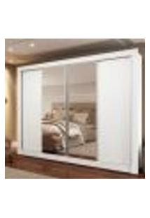 Guarda-Roupa Casal Madesa Montana 4 Portas De Correr Com Espelho - Branco