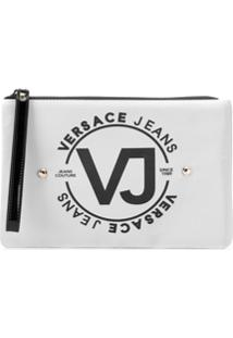 Versace Jeans Necessaire Com Logo - Cinza