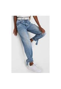 Calça Jeans Colcci Mom Joana Azul