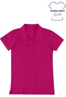 Camisa Pólo Hering Poliester feminina  839aead0fa7d5