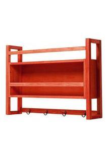 Armario Aereo Gourmet Troia Estrutura Vermelha 86Cm - 61423 Vermelho