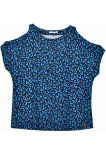 Blusa Mc Ombros Vazados Azul