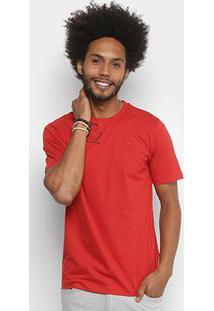 Camiseta Cavalera Básica Logo Masculina - Masculino-Vermelho