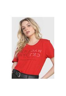 Camiseta Calvin Klein Jeans Nyc Vermelha