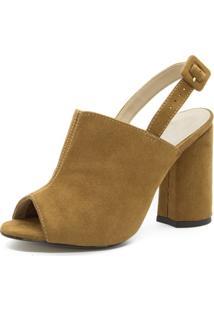 Sandália Sandal Boot Shoes Inbox Salto Grosso Feminina - Feminino