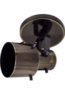 Spot De Sobrepor Em Alumínio Para 1 Lâmpada 60W 110V Oxidado
