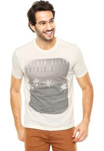 Camiseta Calvin Klein Estampada Bege