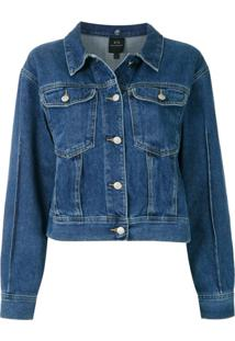 Armani Exchange Jaqueta Jeans Clássica - Azul