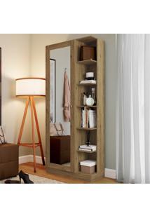 Sapateira Jhully 1 Porta Com Espelho Rústico - Bci Móveis