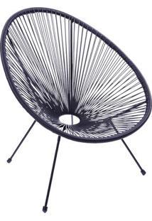 Cadeira Acapulco- Preta- 85X69X50Cm- Or Designor Design