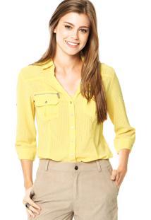 Camisa Facinelli Detalhes Amarela