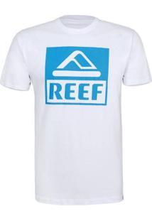 Camiseta Reef Masculina Básica Corporate - Masculino-Branco+Azul