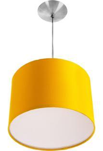 Lustre Cupula Pendente Dome 30X20Cm MagnãFico Amarelo - Amarelo - Dafiti