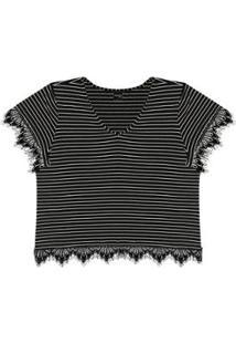 Blusa Rovitex Plus Trendy Feminina - Feminino-Preto