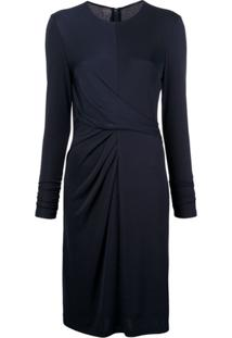 Elie Tahari Long-Sleeve Fitted Dress - Azul