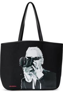 Karl Lagerfeld Bolsa Tote Karl Legend - Preto