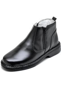 Bota Botina Social Masculino Conforto Top Franca Shoes Preto