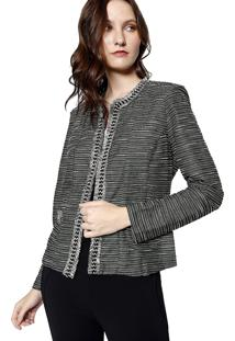 Jaqueta Tweed Malha Energia Fashion Chumbo