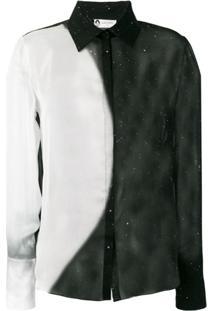 Lanvin Blusa Com Contraste - Preto