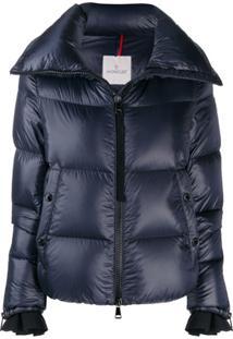 Moncler Logo Patch Puffer Jacket - Azul