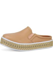 Tênis Cr Shoes Casual Slip On Mule Sapatofran Nude E Palha