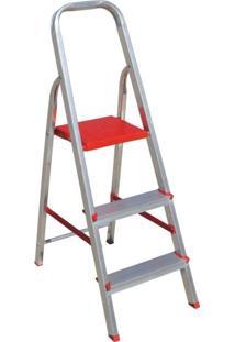 Escada De Alumínio Com 3 Degraus 62X42 Prata