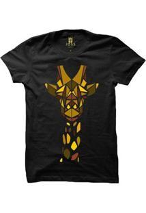 Camiseta Manga Curta Joss Geometric Masculina - Masculino-Preto