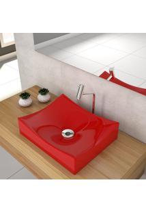Cuba De Apoio Para Banheiro Compace Milla M44W Retangular Vermelha