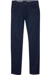 Calça Dudalina Blue Raw Bordados Jeans Masculina (Jeans Escuro Amaciado, 52)