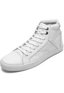 Tênis Couro Calvin Klein Cano Médio Branco