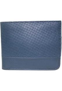 Carteira Laceê Crivo - Masculino-Azul