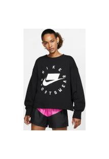 Blusão Nike Sportswear French Terry Crew Feminino