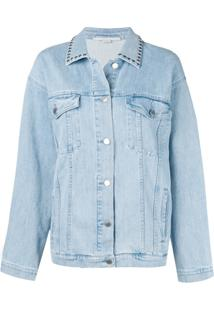 Stella Mccartney Jaqueta Jeans Com Tachas - Azul