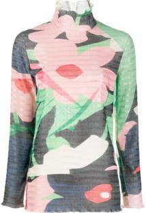 Roksanda Blusa Com Estampa Floral - Verde