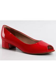 Peep Toe Feminino Verniz Piccadilly 114001