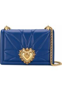 Dolce & Gabbana Bolsa Transversal Devotion Média - Azul