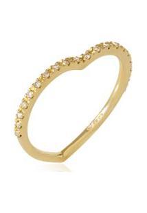 Anel Baby Love Coracao Ouro Amarelo Com Diamante Ttlb